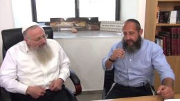 Rav Chmouel Eliyahou et le rav Haim Dynovisz